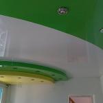 трехуровневые натяжные потолки