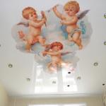 ангелочки натяжные потолки