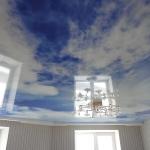 небо на натяжных потолках