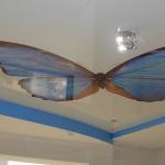 натяжные потолки в бабочках
