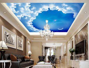 Натяжной потолок для гостиной, зала